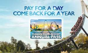 Thorpe Park Season Pass (Pay for a day, come back for a year) £49