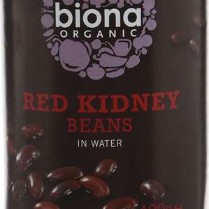 biona organic red kidney beans(400g) pack of 12 £1.45 @ Amazon - Add on item