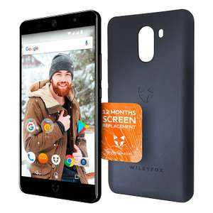 Wileyfox Swift 2 Plus Midnight - 32GB + 3GB 4G SIM-Free Smartphone & Case £149.99 @ Amazon