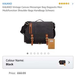 Nice men's bag £9.99 delivered by KAUKKO Flagship Store and Fulfilled by Amazon - Lightning deal