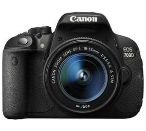 Canon EOS 700D 18MP DSLR Camera with 18-55mm Lens £379 @ Argos