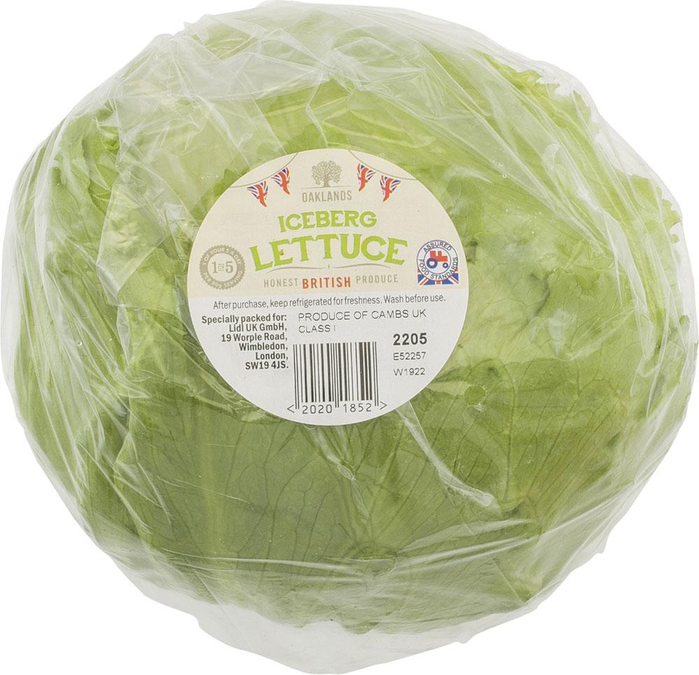 Lidl Iceberg Lettuce 29p each @ Lidl Instore