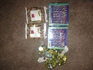 LIDL is giving away free christmas stuff - mini marzipan and butter stollen, candy canes, chocolate coins