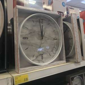 Marble effect clock (two colours available) £8.99 - B&M