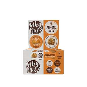 Why Nut Almond Snack Balls 15 pack x 22g £2.25 prime / £7 non prime Sold by WhyNut? and Fulfilled by Amazon
