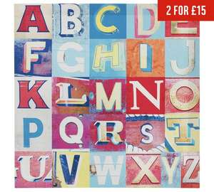 Arthouse Alphabet Printed Canvas (40cm by 40cm) was £9.99 now £2.99 C+C @ Argos (lots more for kids in OP)