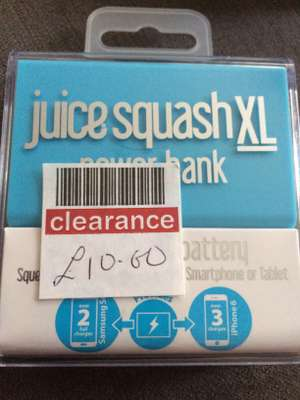 Juice Squash xl power bank £10 in store at Boots