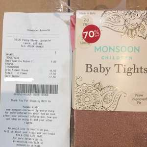 Baby Tights £1 in Monsoon - Lancaster