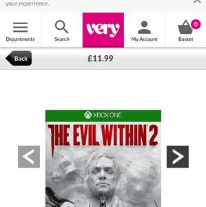 The Evil Within 2 Xbox One/ Ps4 - £11.99 at Very - free c&c