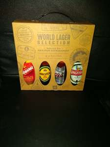 World Lager Selection Gift Box was £4.99, then £2.49, now £1.99 in-store at Aldi