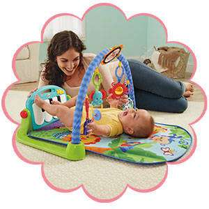 FISHER PRICE KICK & PLAY PIANO GYM BLUE OR PINK! NOW £33.00 AT TESCO, FREE C&C AND TESCO CLUBCARD POINTS!
