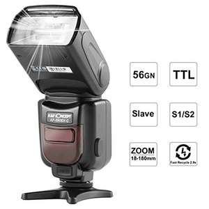 Speedlite Professional Flash for Canon Cameras £49.99 Sold by dcmall and Fulfilled by Amazon.
