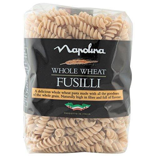 Premium Italian Pasta - Napolina Whole Wheat Fusilli Pasta, 500 g, Pack of 6 (Add on item) @ Amazon for £4.50