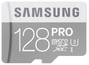 Samsung PRO Micro SDXC 90MBs CLASS 10 with SD Adapter 128GB £29.99 @ PicStop