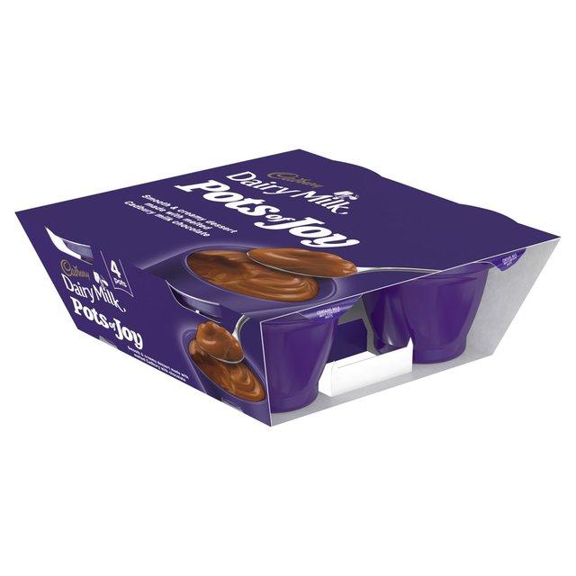 Cadbury Pots of Joy (Dairy Milk, Caramel,Limited Edition) Desserts (4 x 70g) now £1.00 @ Morrisons