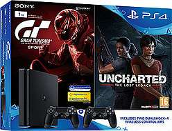 PS4 Slim 1TB, 2 Controllers, GT Sport, Uncharted: The Lost Legacy £269.99 - GAME