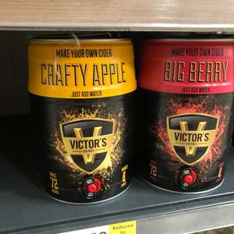 Victors make your own cider £2.50 instore at Tesco