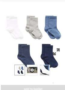 5 pairs of children socks £1 was £5 - mothercare