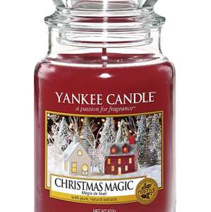 Yankee Candle Classic Jar Christmas Magic, Red for £9.60 (Prime) £14.35 (Non Prime) @ Amazon