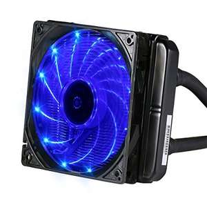 LESHP All-In-One LED Liquid CPU Cooler for AMD and Intel Sockets, 120mm Radiator - £39.09 - Sold by KoCo-Go-UK and Fulfilled by Amazon