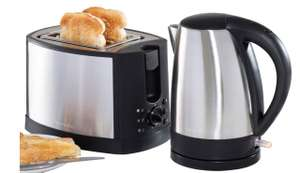 Daewoo Stainless Steel Cordless 1.7L Kettle + 2-Slice Toaster Set £24.99 @ Robert Dyas
