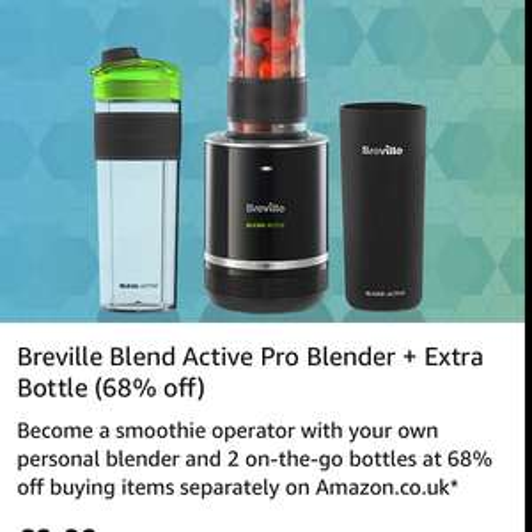Breville Blend Active Pro Blender + Extra Bottle - £9.99 @ Amazon Treasure Truck (London)