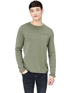 FIND Men's Knitted Rolled Edge Jumper XXL in Khaki £3.21 Add On Item / Minimum Spend £20 @ Amazon (more in OP)
