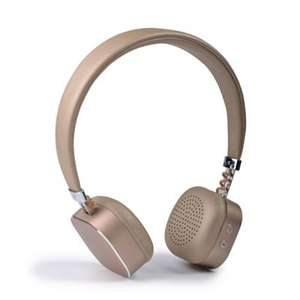 Gold Bluetooth overear headphones reduced from £20 - £6 @ Debenhams (£2 C+C)