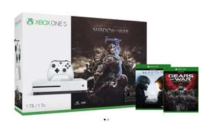 Xbox One S 1TB Console – Shadow of War Bundle + 2 games £229.99 @ Mircrosoft