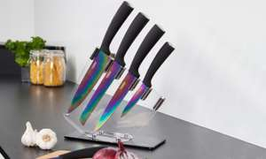 Tower Five-Piece Knife Set with Acrylic Stand £16.98 delivered at Groupon