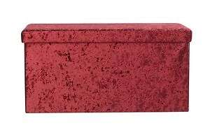 Collection Ashridge Large Velvet Ottoman RED Only, £13.94 Delivered @ Ebay Argos