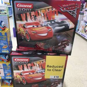 Disney Pixar Carrera Go lightening McQueen cup duel only £18 instore @ Tesco
