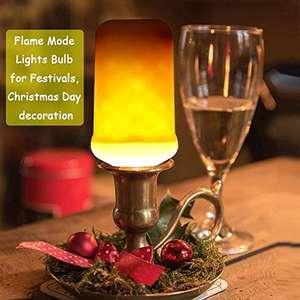 Decorative Flame Flickering Effect Fire Light Bulbs - £5.99 (Prime) £9.98 (Non Prime) @ Sold by KINDEEP-LED and Fulfilled by Amazon