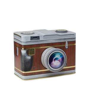 Novelty Biscuit Tins - Camera £3 @ Debenhams (+ £2 c&c or £3.49 p&p)