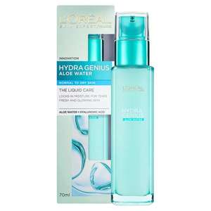L'Oreal Paris Hydra Genius Liquid Care moisturiseir 70ml £1.50 at Sainsbury's in store.