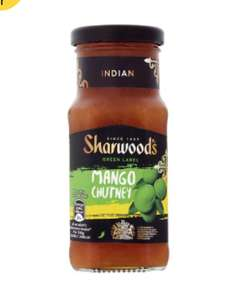 Sharwoods Green Label Mango Chutney 227G 87p @ Tesco
