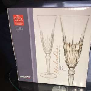 RCR Crystal Melodia Champagne Flutes x 6 - £4.49 instore @ Iceland - Bolton