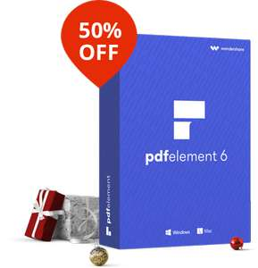 Save 50% on PDFelement 6 – A smart and powerful PDF editor - £25.77 via Techradar