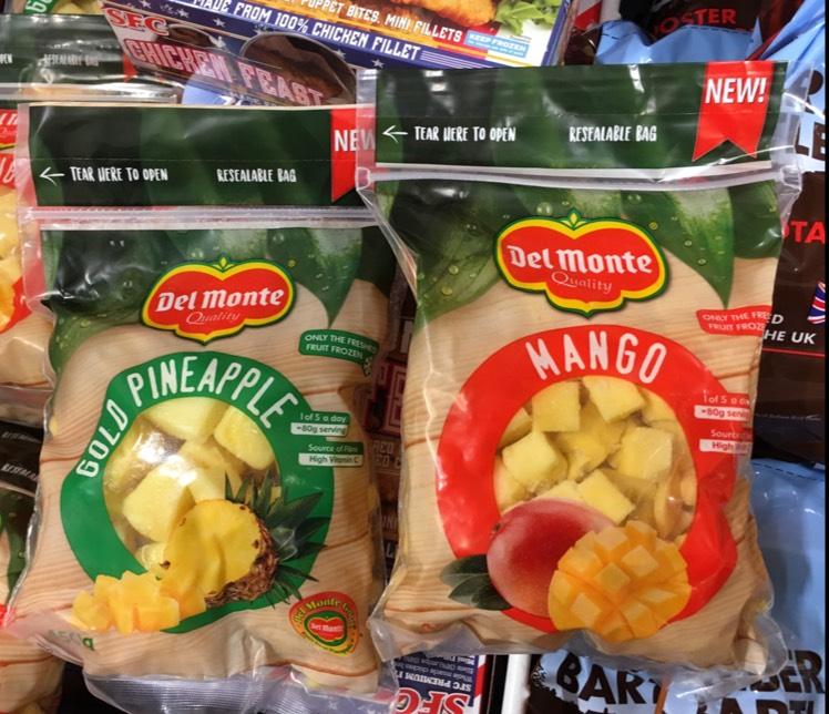 Del Monte Frozen Mango or Pineapple £1 @ Heron - 450g