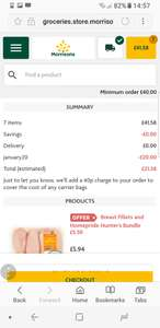 Morrisons £20 Pound off online shop Minimum £40 spend - Poss new / selected accouts