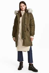 Padded Parka jacket reduced from £49.99 to £14.99 @ H&M free delivery using code 6076