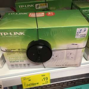 Tp link powerline adapters with pass through and 2 rj45 ports £19 - asda instore
