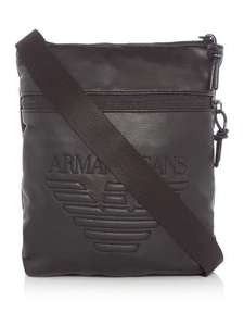 Get down with the kids, buy a man bag. Armani Jeans Morbido Large Logo Crossbody Bag reduced from £70 @ House of Fraser (plus  extra 10% off using recognition card(£34.20))