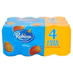 Rubicon mango cans 8+4 free for £2.50 at Morrisons
