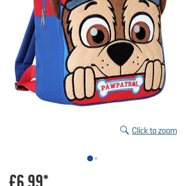 Paw Patrol bag (Chase&Skye) £6.99 Argos