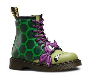 Dr Martens TMNT Juniors Michaelangelo & Donatello Kids Boots Size 1 1/2 £23.95 Delivered (10% Off Code Available)