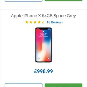 iPhone X 64GB - Bargain Price!!! £998.99 @ Mobiles.co.uk
