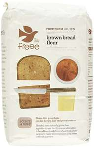 Doves Farm- Gluten & Wheat Free- Brown Bread Flour 1 kg (Pack of 5)£2.79 add on item at Amazon