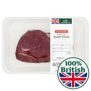"Morrison's extra thick 400g British rump ""reduced"" to £4.34"