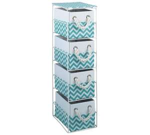 HOME Chevron 4 Drawer Storage Unit - Turquoise 1/2 Price @Argos